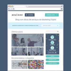 Construcao de Blog Profissional para Marketing de Conteudo